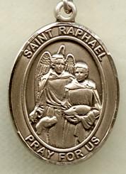 """St. Raphael - .75"""" - Gold Filled Medal"""