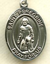 "$15.00 - St. Peregrine - .75"" - Pewter Medal"
