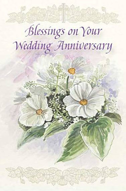 Blessings on Your Wedding Anniversary Greeting Card