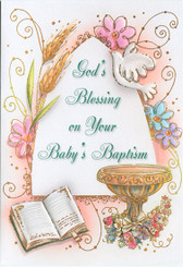 Sisters of carmel baptism greeting cards babys baptism greeting card m4hsunfo