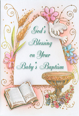 Baby's Baptism Greeting Card