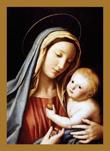 madonna and child christmas cards