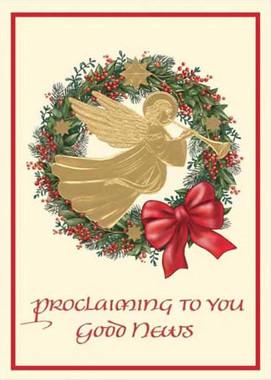 Proclaiming to You Good News Christmas Card