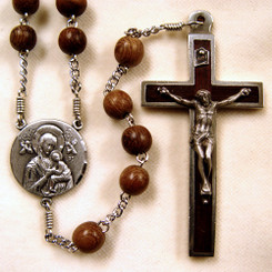 Our Lady of Perpetual Help wood rosary