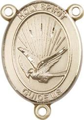 "Holy Spirit - .75"" Oval - Gold Filled Centerpiece"