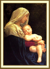 Madonna and Child Thank You Card