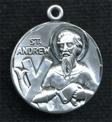 """Round St. Andrew Medal - 1"""" - Sterling Silver"""