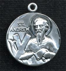 "Round St. Andrew Medal - 1"" - Pewter"