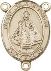 "Infant of Prague - .75"" Oval - Gold Filled Centerpiece"