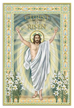 Christ is Risen Easter card