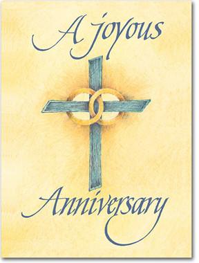 A Joyous Anniversary Greeting Card
