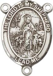 "Lord Is My Shepherd - .75"" Oval - Sterling Silver Centerpiece"