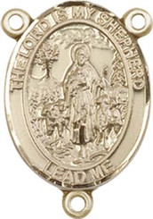 "Lord Is My Shepherd - .75"" Oval - Gold Filled Centerpiece"