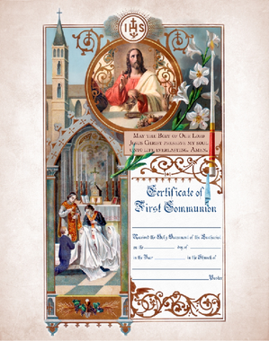 First Holy Communion Certificate
