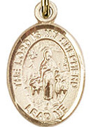 """Lord Is My Shepherd - .50"""" Oval - Gold Filled Side Medal"""