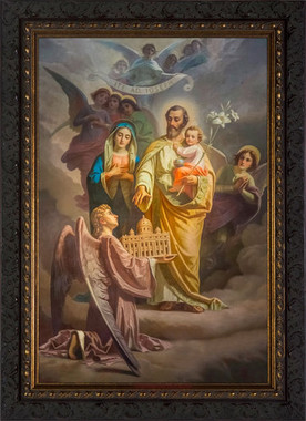 St. Joseph Patron of the Universal Church Dark Ornate Framed Print