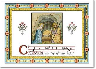 Gregorian Chant Christmas Card