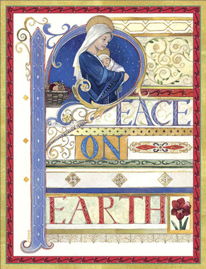 Virgin and Child Peace on Earth Christmas Cards