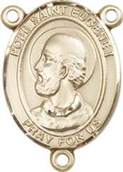 "Pope Saint Eugene I - .75"" Oval - Gold Filled Centerpiece"