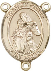 """Prophet Isaiah - .75"""" Oval - Gold Filled Centerpiece"""