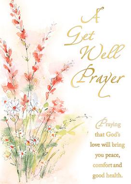 A Get Well Prayer Greeting Card