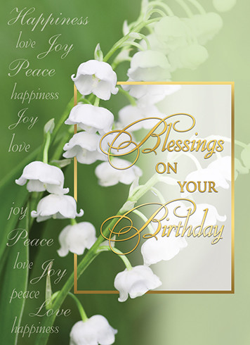 Sisters Of Carmel Blessings On Your Birthday Greeting Card