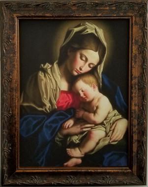 Virgin Mother and Child religious art framed print