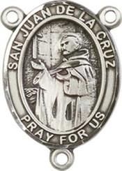"San Juan De La Cruz - .75"" Oval - Sterling Silver Centerpiece"