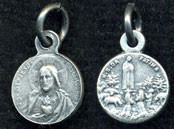 "Sacred Heart / Our Lady of Fatima - .375"" - Double Sided Nickel Silver Side Medal"