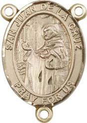 """San Juan De La Cruz - .75"""" Oval - Gold Filled Centerpiece"""