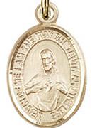 """Scapular - .50"""" Oval - Gold Filled Side Medal"""
