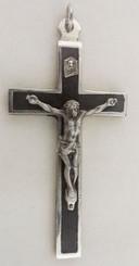 Ebony Metal back crucifix