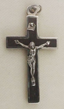 Ebony Inlaid Crucifix