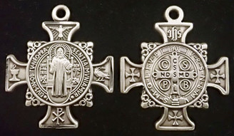 Cross Shaped St. Benedict Medal
