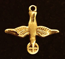 Gold Plated Holy Spirit Figurine Medal
