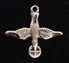 Sterling silver Holy Spirit Figurine Medal