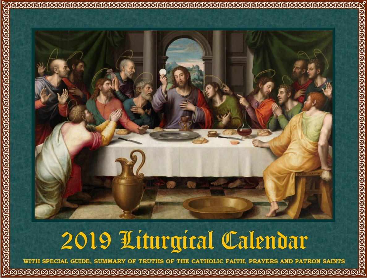 2019 traditional liturgical calendar