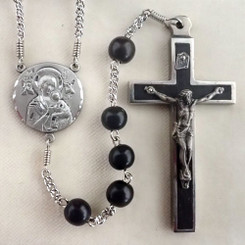 Ebony Our Lady of Perpetual Help Rosary