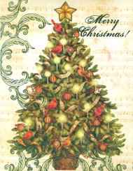 Merry Christmas Tree Christmas Cards