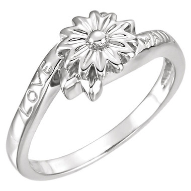 Sterling silver Love Waits Ring