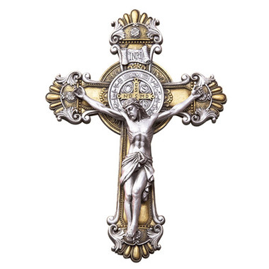 Front of St. Benedict Wall Crucifix