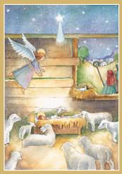 Flocks By Night Single Christmas Card