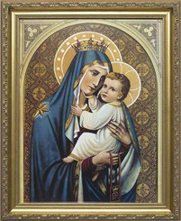 Our Lady of Mt. Carmel Framed Print - Discounted