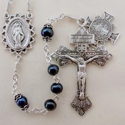 Ravenwing Pearl Rosary