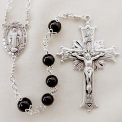 7mm Black Onyx Rosary