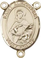 "St. Alexandra - .75"" Oval - Gold Filled Centerpiece"