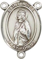 "St. Alice - .75"" Oval - Sterling Silver Centerpiece"