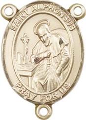 "St. Alphonsus - .75"" Oval - Gold Filled Centerpiece"