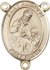 "St. Ambrose - .75"" Oval - Gold Filled Centerpiece"