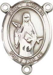 "St. Amelia - .75"" Oval - Sterling Silver Centerpiece"